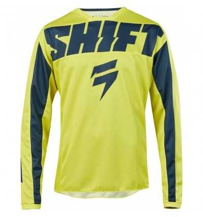 remera mx shift whit3 york amarillo/azul talle l