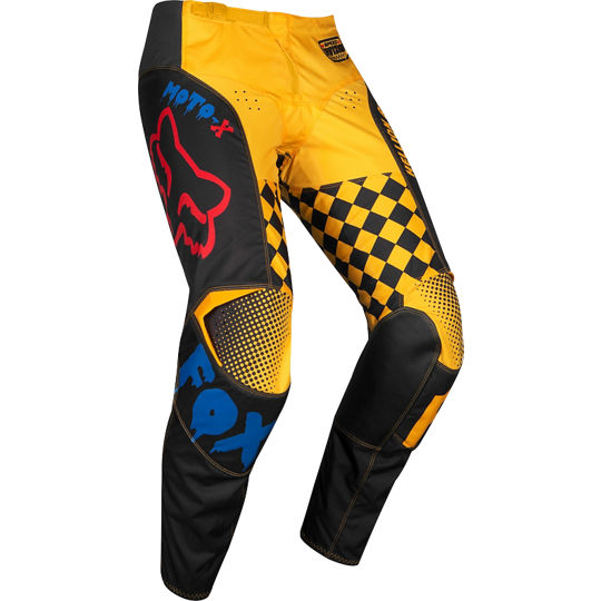 pantalon fox 180 czar azul/amarillo talle 30