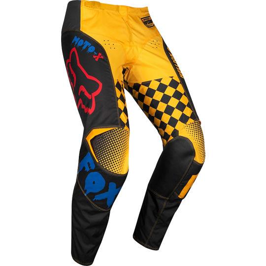 pantalon fox 180 czar azul/amarillo talle 34