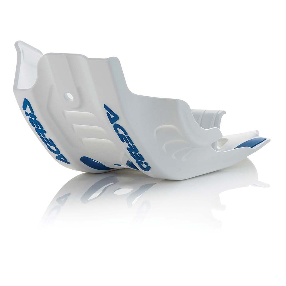 cubre carter ktm ktm sxf450 husqvarna450 2016- blanco azul acerbis