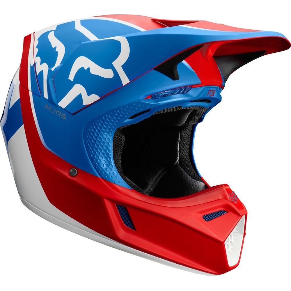 casco fox v3 kila blco/rojo/azul talle xl