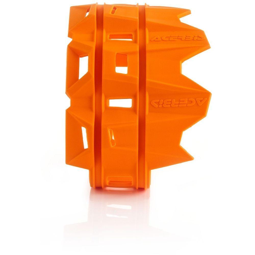 protector escape silicona acerbis naranja universal