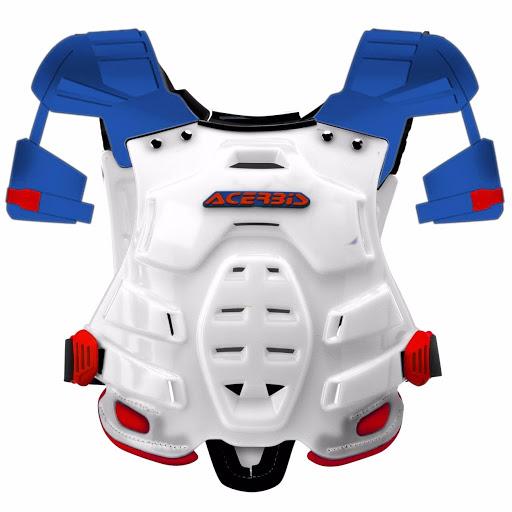 pechera acerbis robot rojo/azul