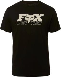 remera casual fox race team ss premium negra talle m