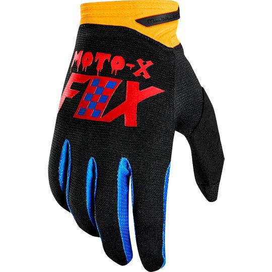 guante dirtpaw czar talle M azul/amarillo fox