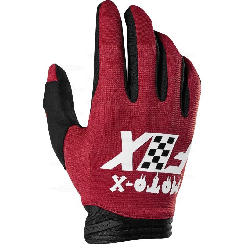 guante dirtpaw czar talle XL rojo fox
