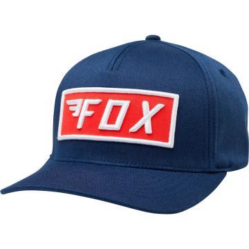 gorra fox stealth flexfit azul/rojo l/xl