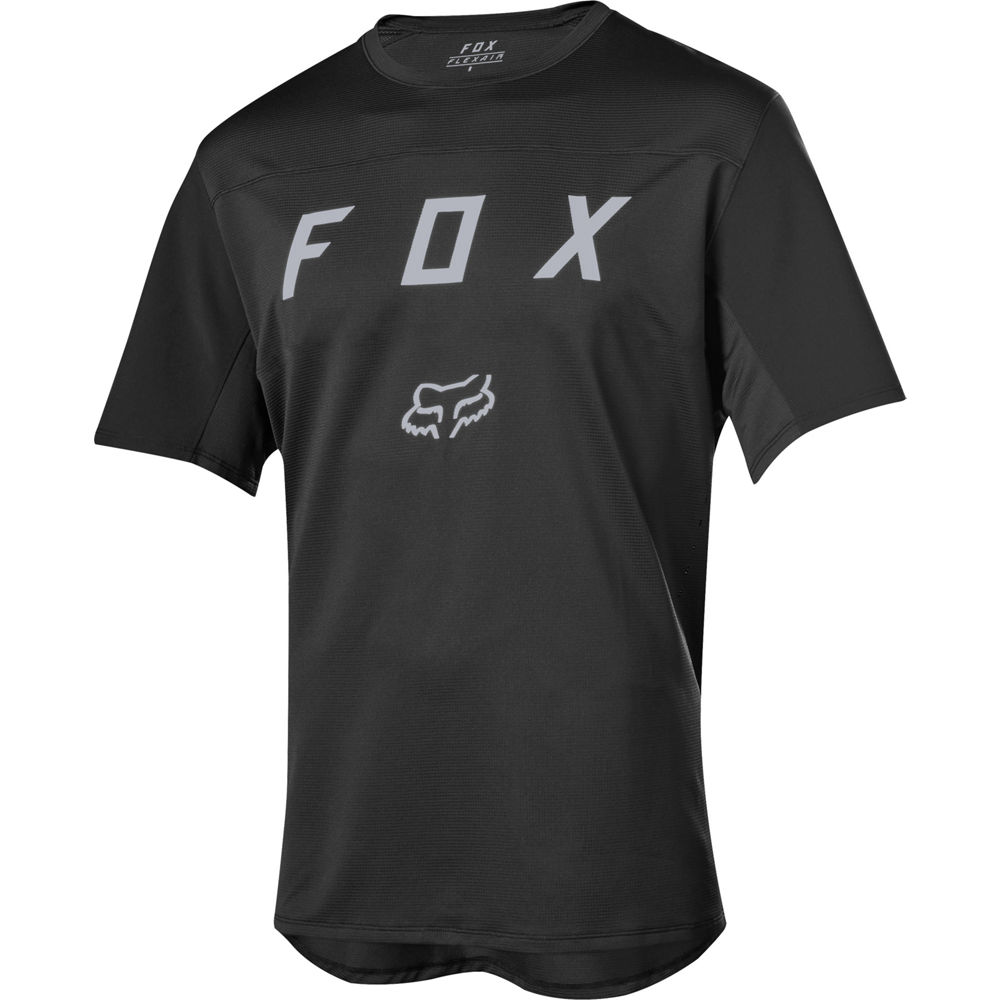 remera mx fox flexair ss moth negra sin mangas talle m