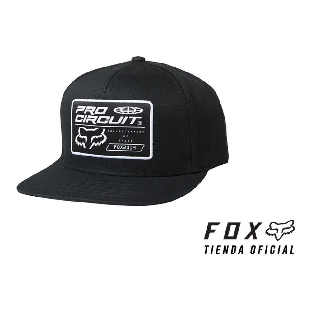 gorra fox pro circuit snapback negra