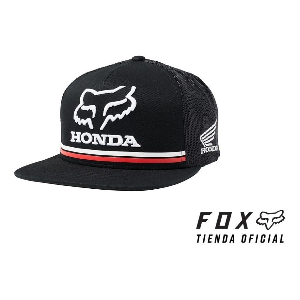 gorra fox honda snapback negra