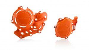 protector tapa motor y encendido derecho x-power ktm exc-f 450 17/19 sx-f 16/19 husqvarna fe 450 17/19 fc 16/19 acerbis naranja