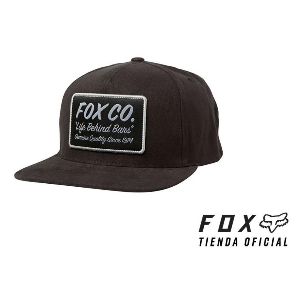 gorra fox snapback negra