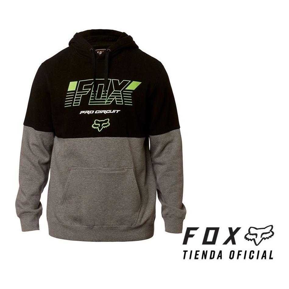 buzo fox pro circuit negro/gris/fluo talle xl