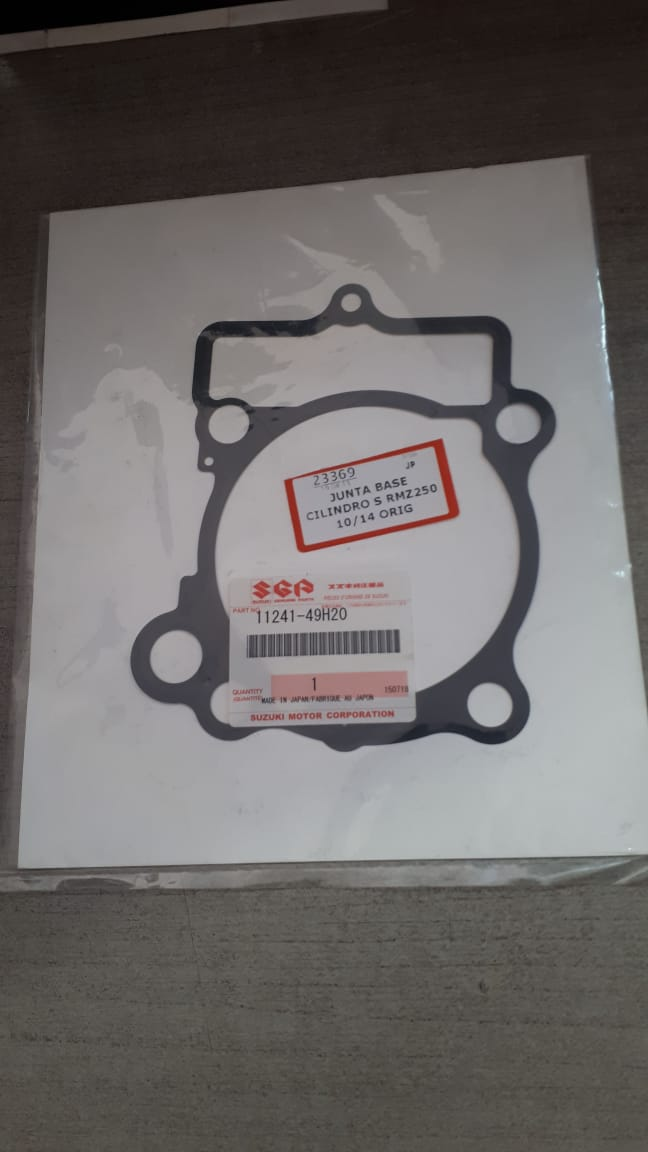 junta base cilindro suzuki rmz 250 10/14 orig