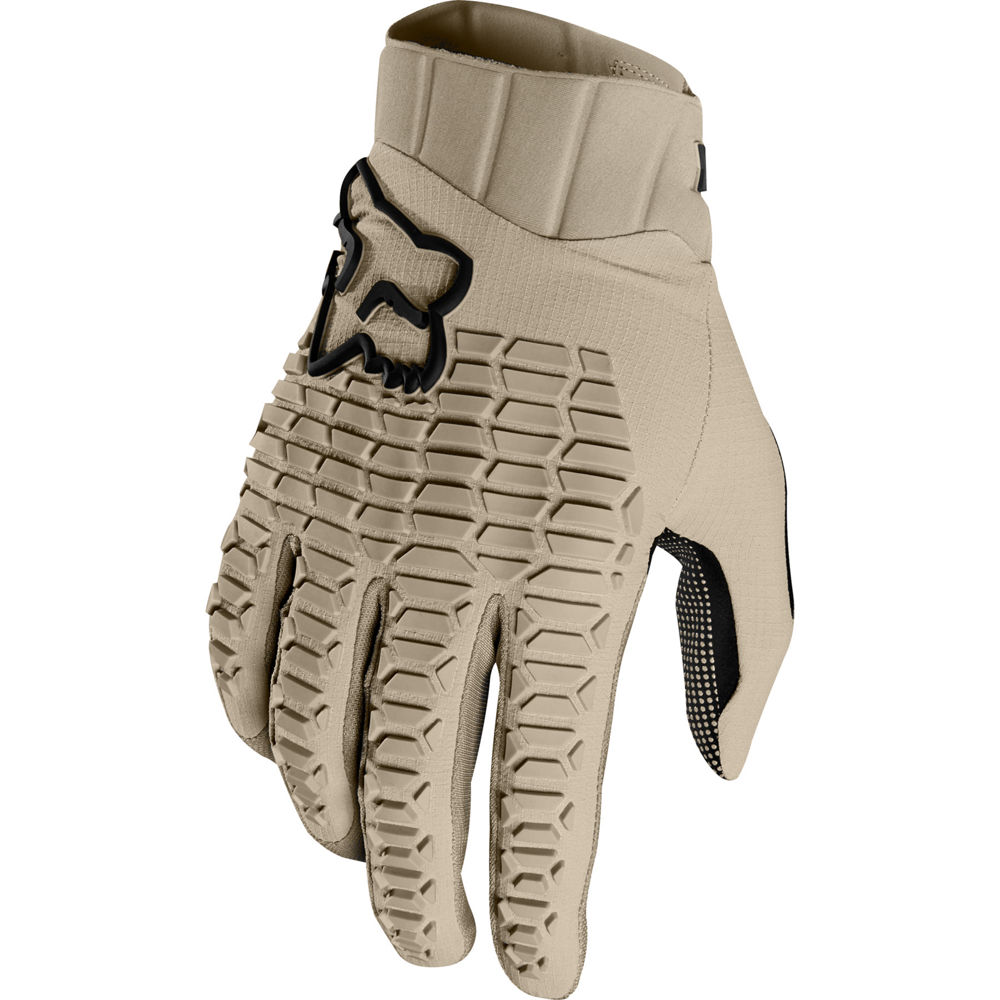 guante fox defend beige talle s