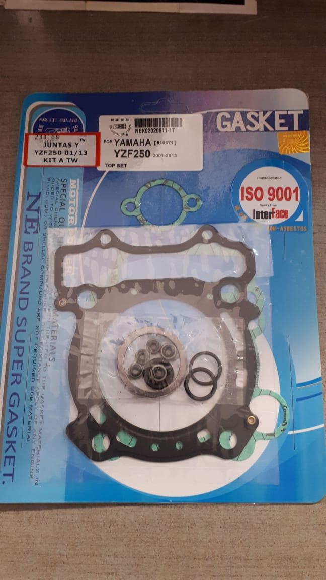 juntas yamaha yzf 250 01/09 kit a original
