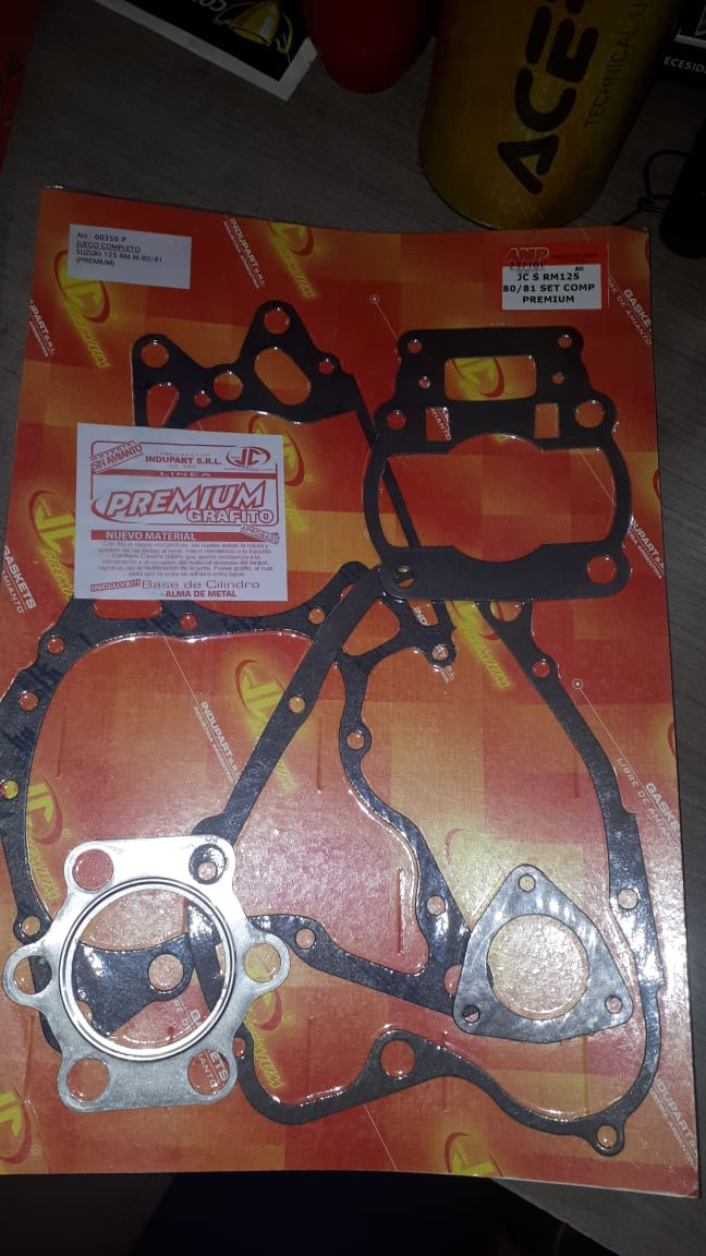 junta jc suzuki rm 125 80/81 set comp premium