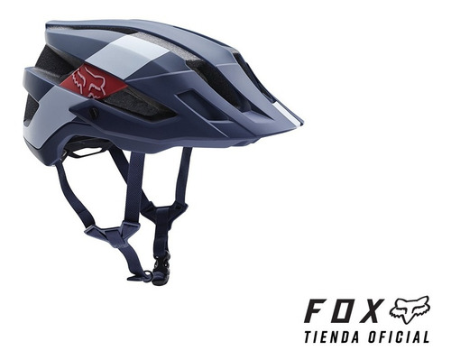 casco fox flux abierto azul talle s/m