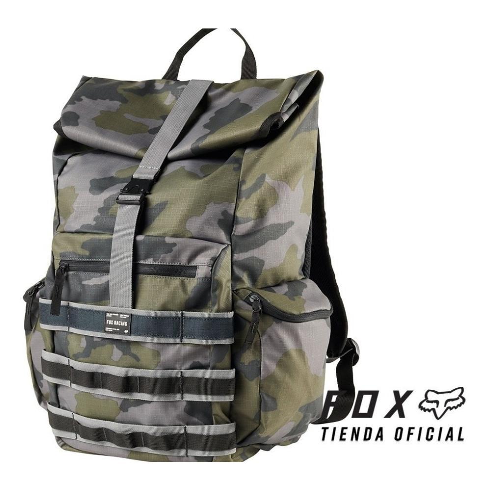 mochila fox 360 backpack camuflada/gris