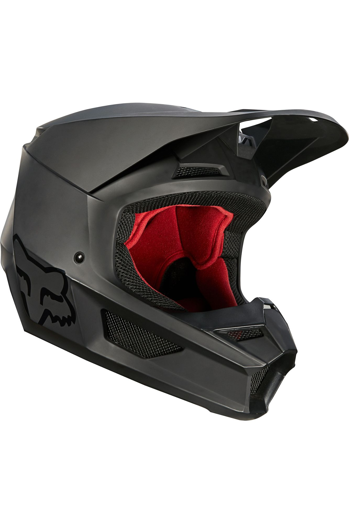 casco fox v1 matte negro talle ym (niño)