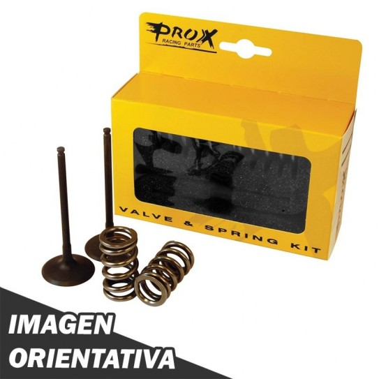 valvula escape prox acero c/resorte kit ktm250excf 13/15 2set