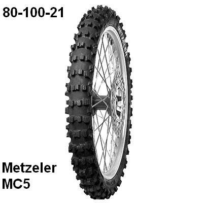cubierta metzeler MC5 80/100x21