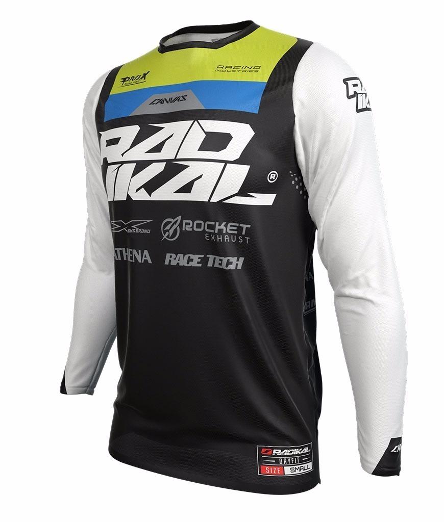 remera mx radikal concept negro/blanco talle xl