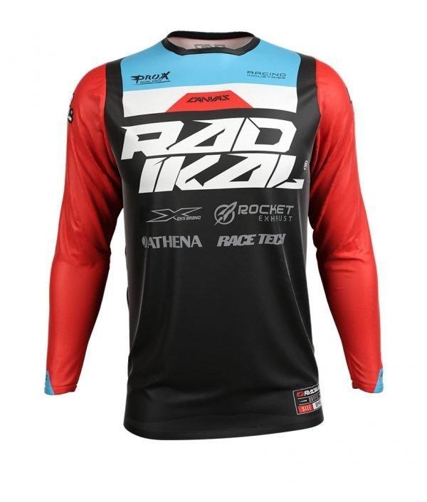 remera mx radikal concept negro/rojo talle xl