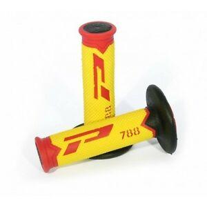 puños progrip 788 extra slim fluo-rojo-amarillo-negro