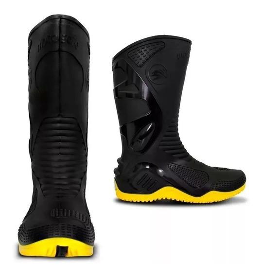 bota pvc motosafe negro/amarillo talle 42 agua