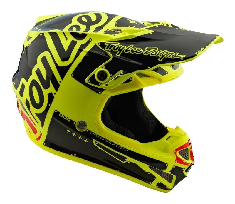 casco troy lee SE4 factory amarillo talle L poli (58-59cm)