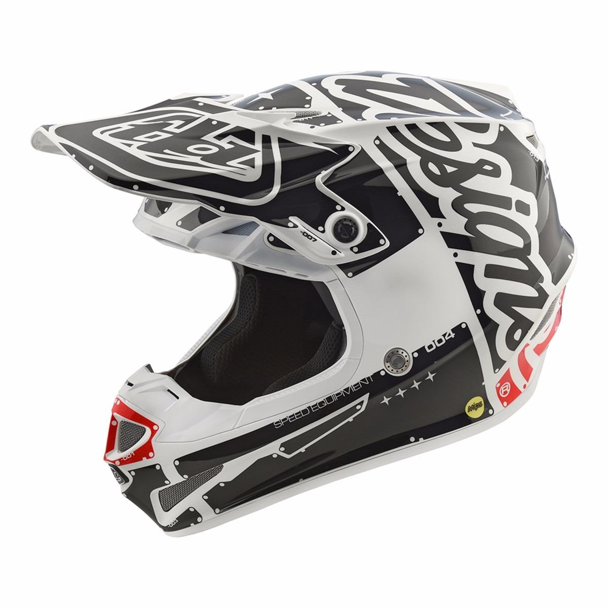 casco troy lee SE4 factory blanco talle L poli (58-59cm)