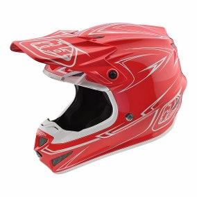 casco troy lee SE4 pinstripe rojo talle L poli (58-59cm)