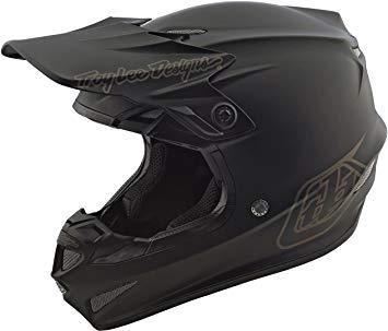 casco troy lee SE4 mono negro talle L poli (58-59cm)