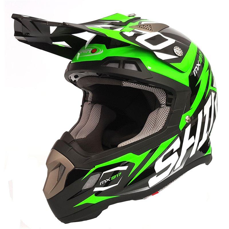 casco shiro thunder verde fluor talle l (59-60cm)