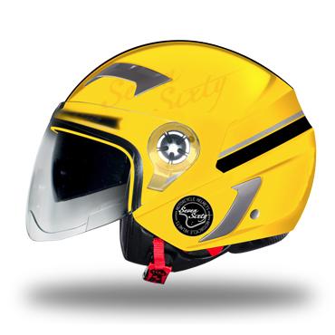 casco ls2 stroke limit yellow talle l