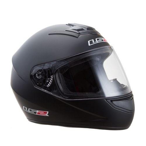 casco ls2 mono matt black talle xl