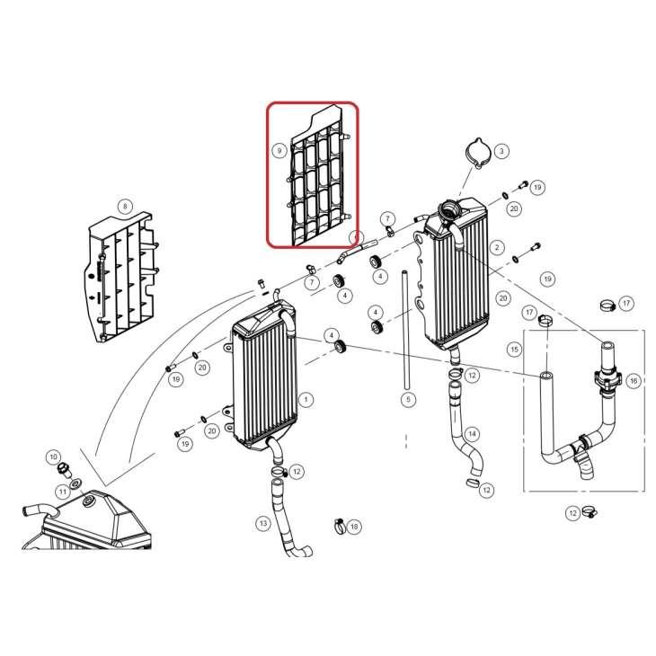 deflector radiador derecho gasgas ec 250/300 2017