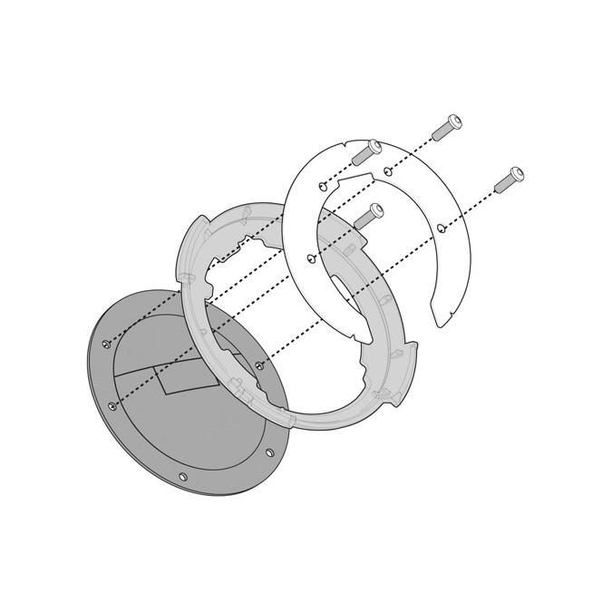 givi adaptador p/bolsos tanklock honda
