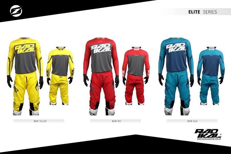 conjunto radikal elite amarillo talle 40/42 (XL) motocross enduro 2019