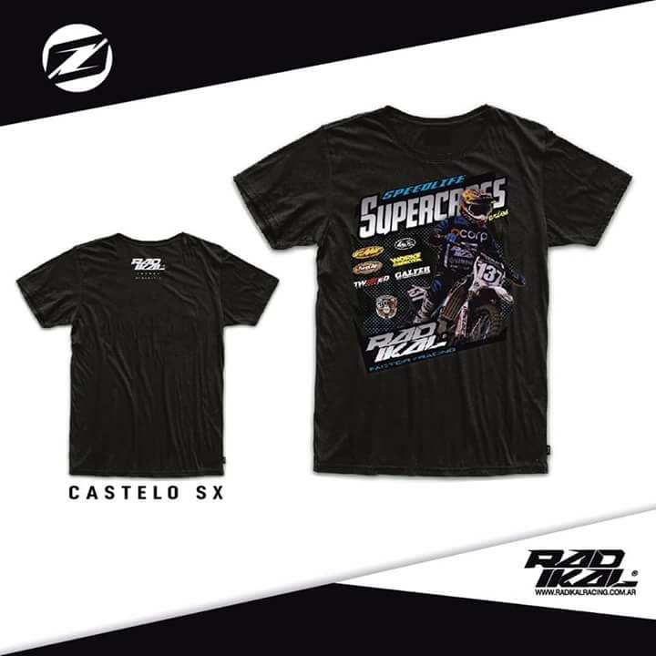 remera casual radikal super cross talle M