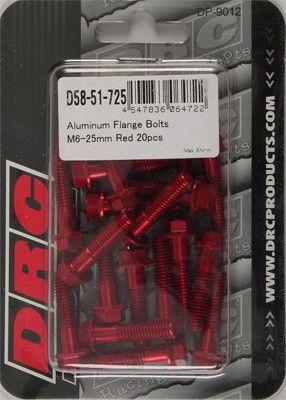 tornillo DRC alum m6 25mm rojo unidad