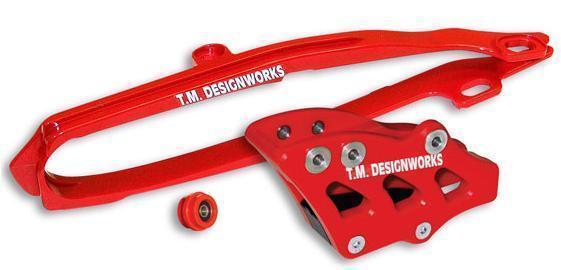 kit guia + desliza cadena TM honda crf 250 450 09/13 dirtcross rojo