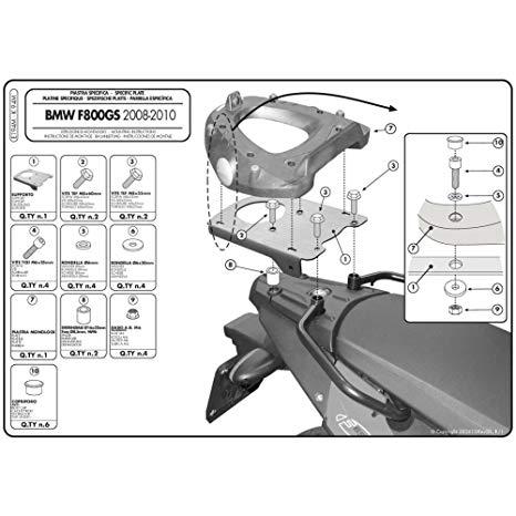 givi base tras p/baul monolock bmw 650-800gs