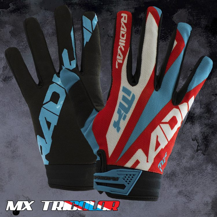 guante radikal mx tricolor talle s