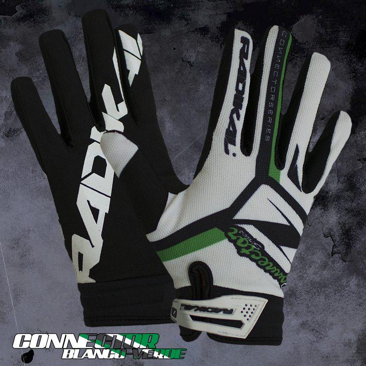 guante radikal connector blanco verde talle xl