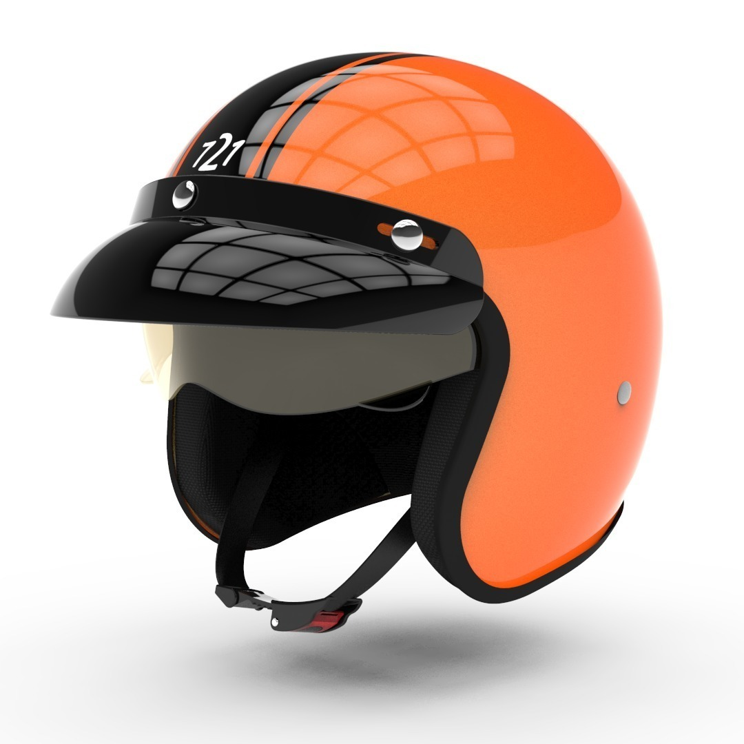 casco hawk 721 challenger naranja talle s (56cm)