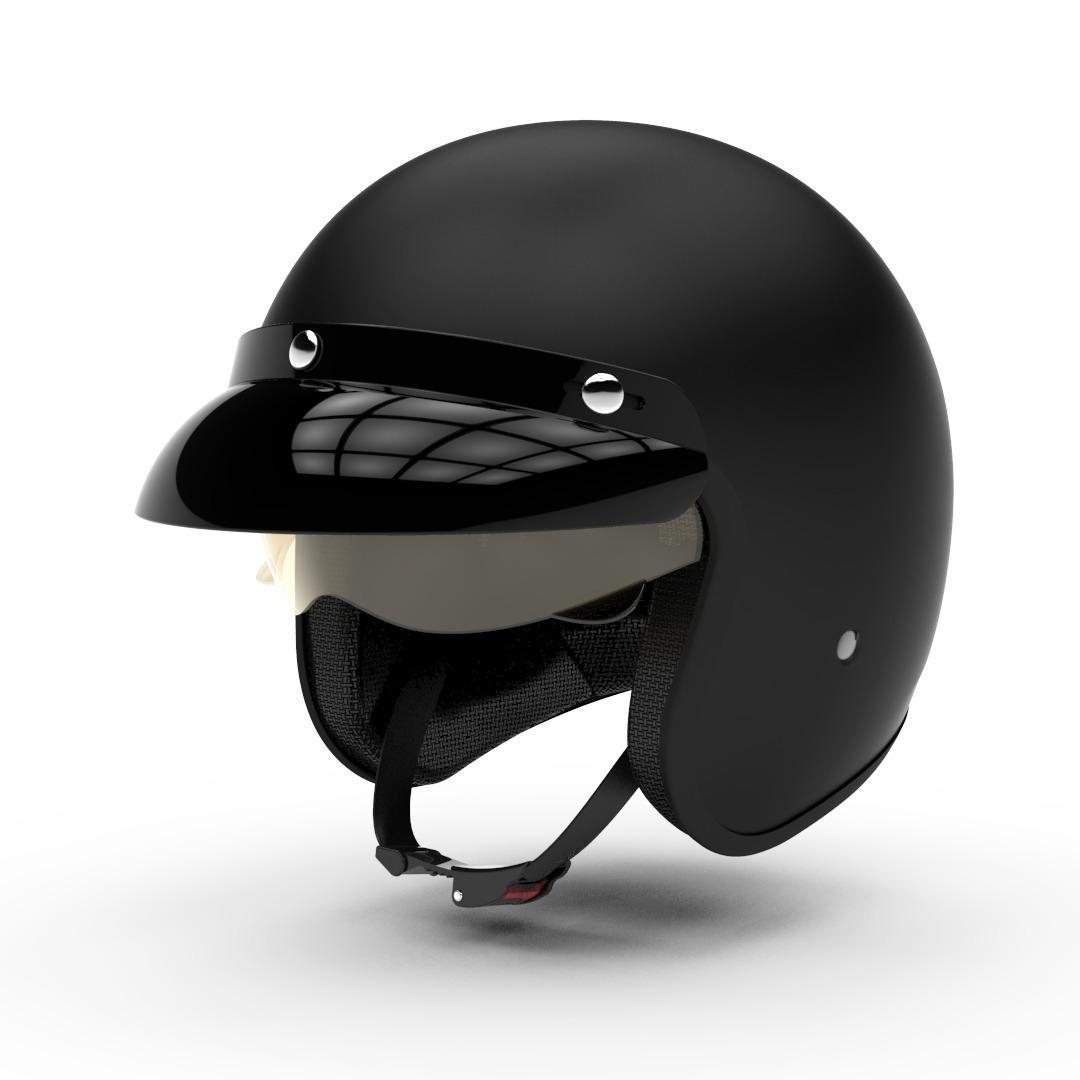 casco hawk 721 negro mate talle s (56cm)