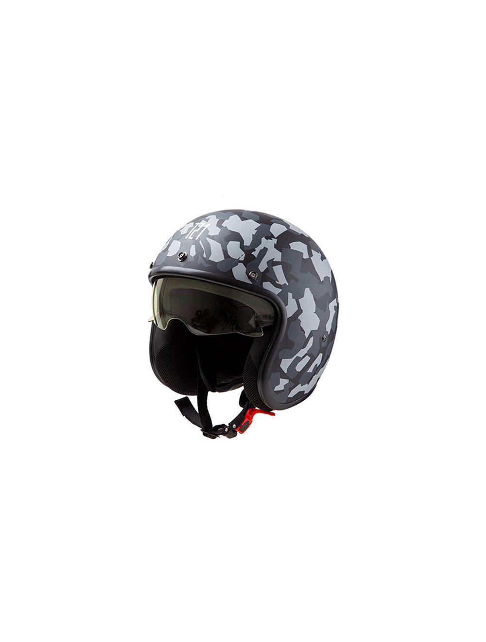 casco hawk 721 abierto camou kiev negro/gris mate talle s