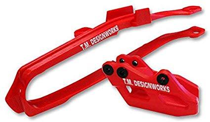 kit guia + desliza cadena TM honda crf 250 450 09/13 GP rojo